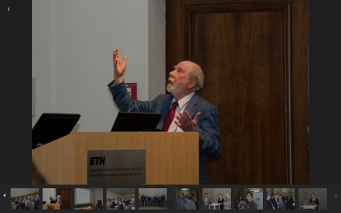 Photos from the Wirth Symposium (by the Chair of Software Engineering)